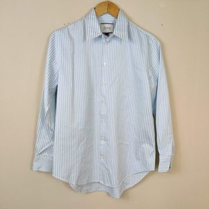 Thomas Pink Blue Stripe Button Down Shirt